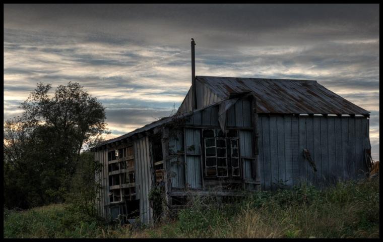 Broken down shack